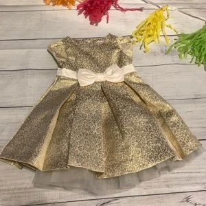 Gymboree Gold Holiday Formal Dress 6-12 Months